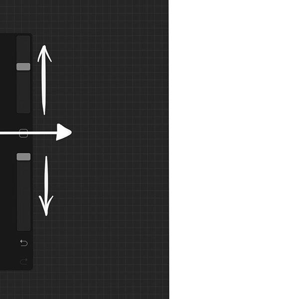 侧边栏最下面的是撤销和重做按钮,按住撤销按钮会启用「快速撤销」