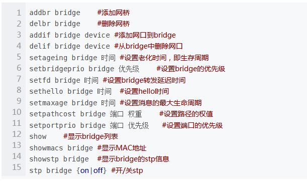 bridge网桥表老化时间设置