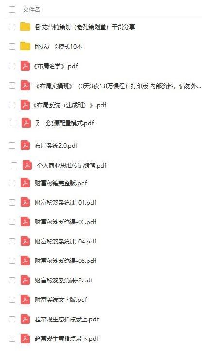 卧龙万能模式布局系统布局绝学47本资料PDF