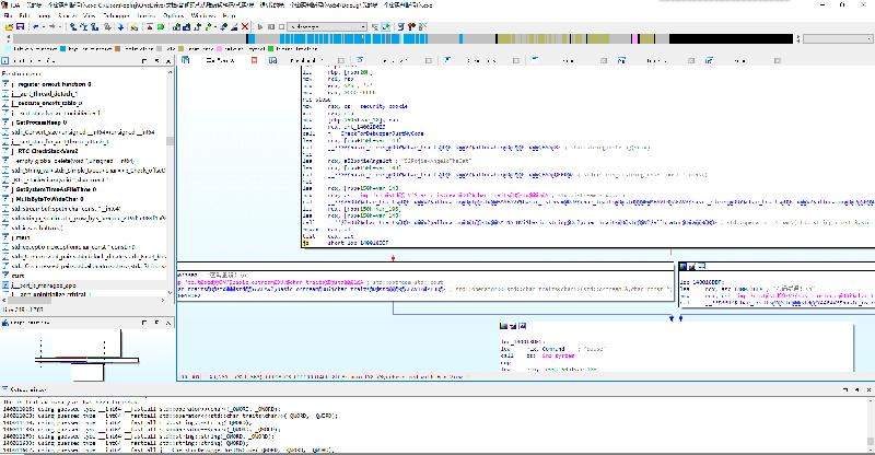 返回 IDA View 视图(框图),可以看到主函数的执行逻辑